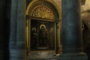 Брянский художник отреставрировал алтарь в храме Гроба Господня