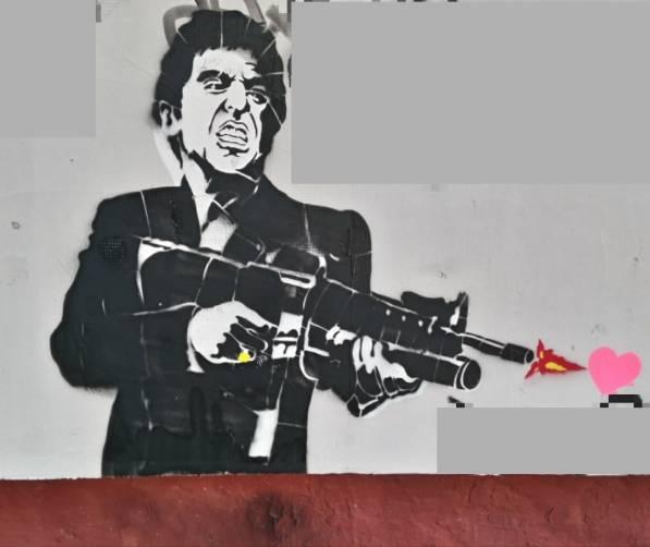 В Брянске на стене дома появился портрет Аль Пачино