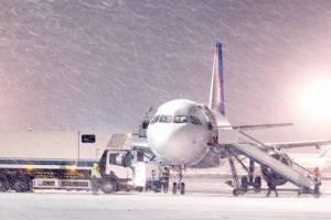 Авиарейс из Краснодара в Брянск задержали из-за сильного снега