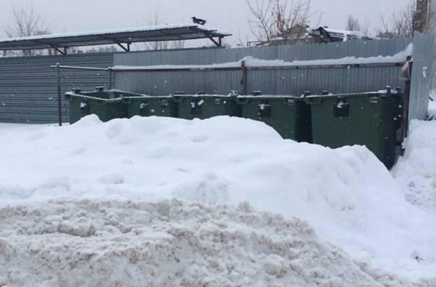 В Брянске из-за снегопада изменился график вывоза отходов