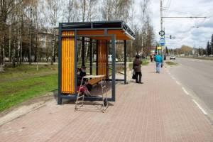В Брянске на Станке Димитрова поставили современную остановку