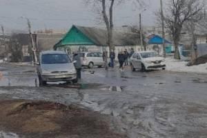 В Новозыбкове на перекрестке не поделили дорогу две легковушки