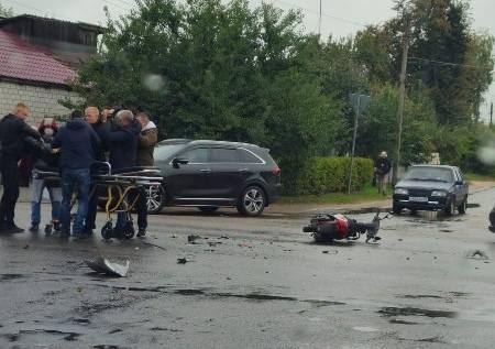 В Клинцах разбился мотоциклист