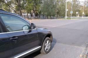 В Брянске заменили лежачего полицейского возле школы №60