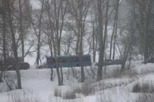 В Брянске из-за снегопада встала в пробке дорога от «Аэропарка»