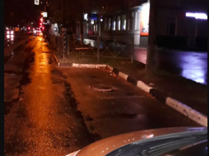 В Брянске у остановки «Березка» заметили опасную ловушку