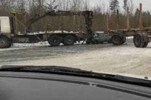 В Брянской области ищут свидетелей жуткого ДТП с лесовозом и легковушкой