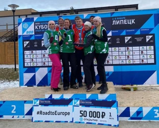 Брянские девушки выиграли Кубок России по волейболу на снегу
