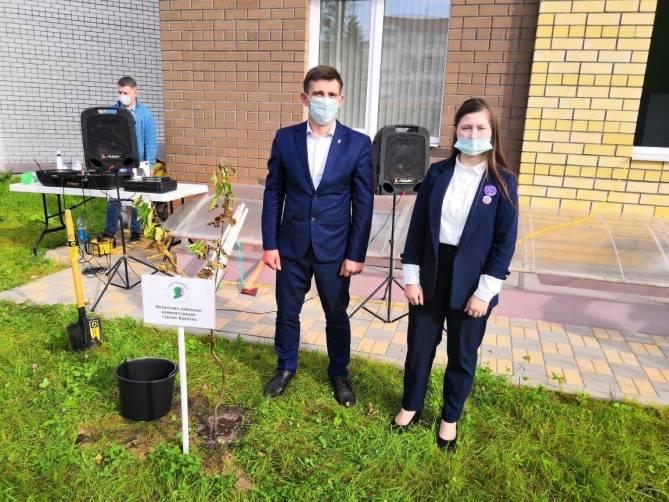 В Брянске возле детской поликлиники №5 высадили деревья