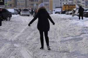 Брянских чиновников пригласили прогуляться по заледенелым тротуарам