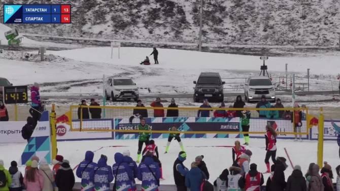 Брянская команда победила на Кубке России по волейболу на снегу