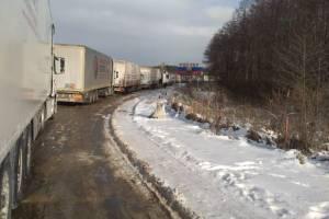 На брянской границе со стороны Украины скопилась огромная очередь из грузовиков