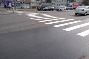 На брянские улицы вернулись классические черно-белые зебры