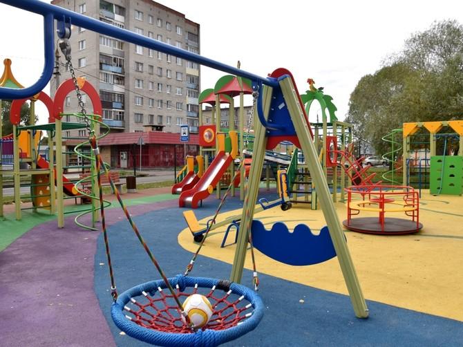 В Стародубском районе появится четыре детских площадки