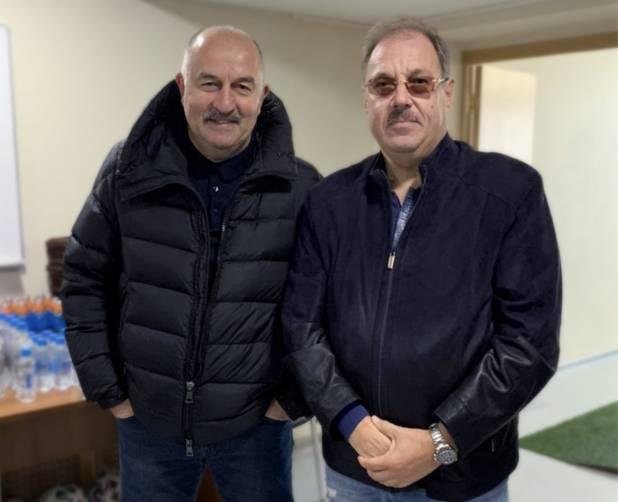 Брянский депутат Борис Пайкин встретился с тренером сборной России по футболу