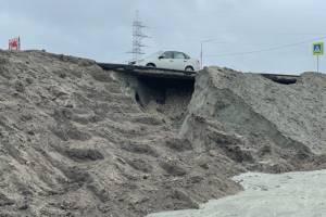 Брянские власти обвинили федеральные СМИ в фейках о провале на новой дороге