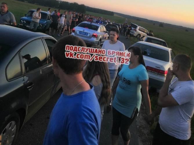 Под Брянском полиция накрыла нелегальных гонщиков