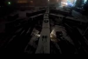 В Брянске из троллейбусов выстроили новогоднюю елку
