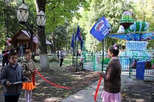 В Почепе открыли благоустроенный городской парк