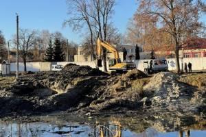 В Клинцах благоустраивают старинный парковый пруд