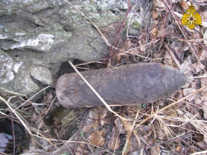 Под Трубчевском нашли артиллерийский снаряд