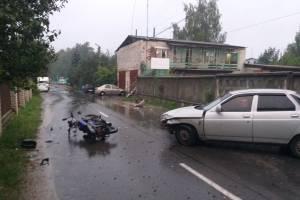 В Дятькове в массовом ДТП ранен мотоциклист