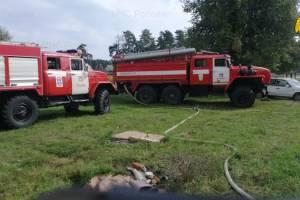 В Дятьковском районе сгорел жилой дом: есть пострадавший