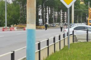 В Брянске у «Аэропарка» пешеходов выгнали на проезжую часть