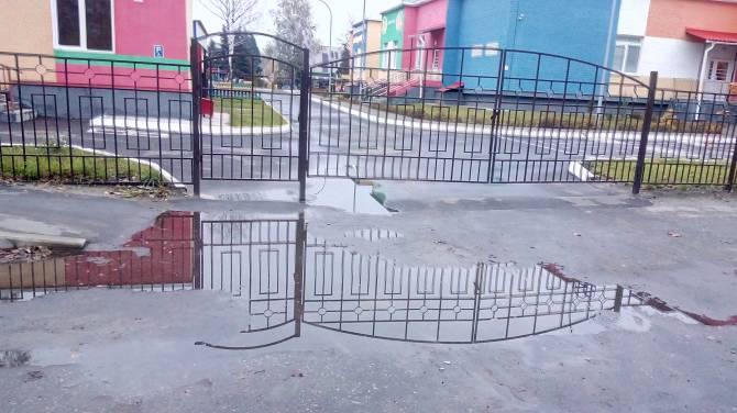 Брянцы просят убрать лужу у детского сада «Деснянские звездочки»