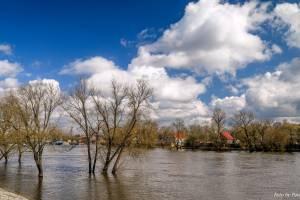 В Брянске сняли на фото разлив Десны в районе Набережной