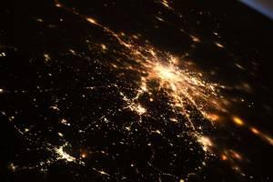 Ночной Брянск сфотографировали с борта МКС