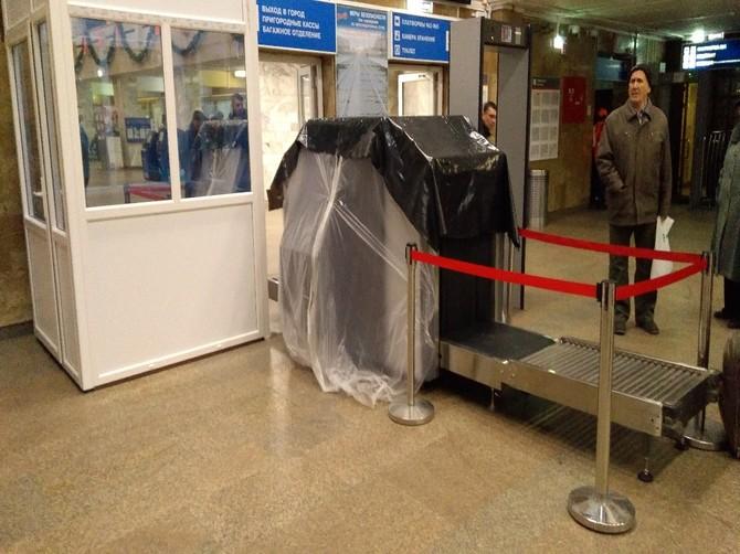 На вокзале Брянск-Орловский установили пункт досмотра багажа