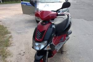 Под Новозыбков задержали 16-летнего подростка на скутере без прав
