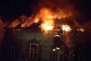 В Суземском районе во время пожара в жилом доме пострадал человек