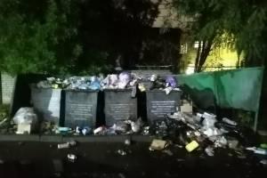 В Дятьково на проспекте Ленина контейнерная площадка превратилась в свалку