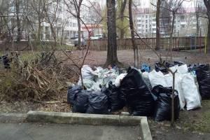 В Брянске УК и ТСЖ забыли о вывозе мусора после субботников