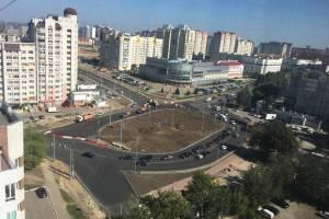 В Брянске внутри кольца на пересечении Советской и Крахмалева устроят клумбу