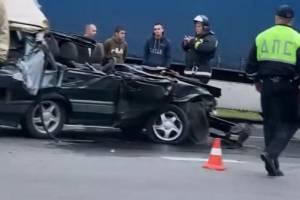 Опубликовано видео с места жуткой аварии на въезде в Брянск