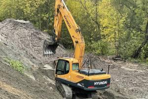 В Брянске начали восстанавливать размытую ливнем новую дорогу