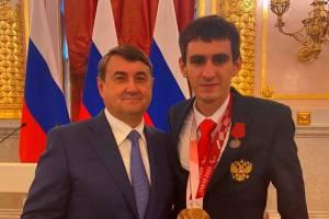Брянского паралимпийца наградили медалью ордена «За заслуги перед Отечеством»