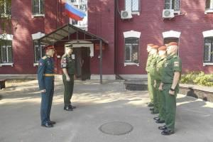 На Брянщину приехали молодые офицеры военной полиции
