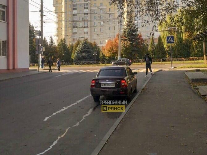 В Брянске водитель наплевал на правила одностороннего движения