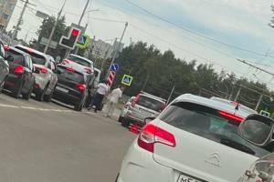 В Брянске у областной больницы случилось ДТП