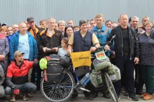 Житель Жуковки отправился на велосипеде на Алтай