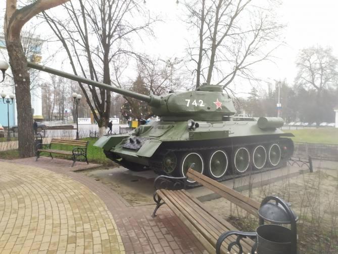 Брянский завод потребовал вернуть танк Т-34 из сквера Морозова