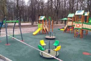В брянском парке имени Пушкина установили новую детскую площадку