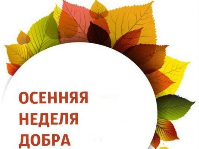В Брянской области 30 сентября стартует «Осенняя неделя добра»
