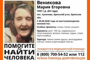 В Брянске ищут пропавшую 83-летнюю Марию Веникову