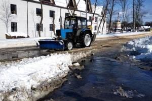 В Клинцах прорвало водопровод возле «Памятника Чернобыльцам»