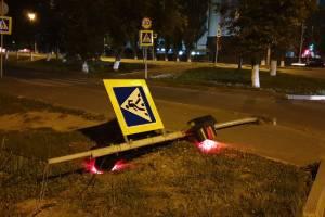 В Брянске в районе завода «Сельмаш» упал светофор